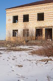 Abandoned farmhouse in the exclusion zone of the Chernobyl NPP. Royalty Free Stock Photo