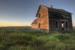 Abandoned Farmhouse Saskatchewan Canada Stock Images