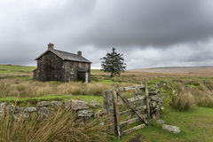 Abandoned Farmhouse On A Stormy Day in Dartmoor Royalty Free Stock Photo