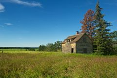 Abandoned farmhouse in summer Stock Image