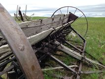 Abandoned farming equipment. Old abandoned farming equipment. Probably early 1900s. Located in western plains of America Stock Photos