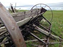 Abandoned farming equipment. Stock Photos
