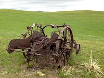Abandoned farming equipment. Royalty Free Stock Images