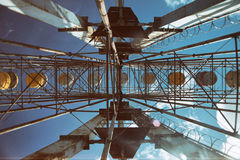 Abandoned  ferring wheel Stock Photo