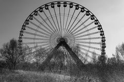 Abandoned ferris wheel. Overlooking the old ferris wheel in Berlin's Spreepark Royalty Free Stock Image
