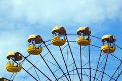 Abandoned ferris wheel in Pripyat. Abandoned ferris wheel in amusement park in Pripyat, Chernobyl area Royalty Free Stock Image