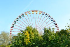 Abandoned Ferris Wheel in Theme Park Berlin Stock Images