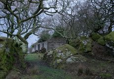 Abandoned ferry house on Bute. The creepy looking ferry house on Bute, just before dawn Stock Image