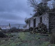 Abandoned ferry house on Bute. The creepy looking ferry house on Bute, just before dawn Stock Photos