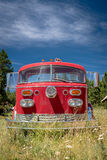 Abandoned fire truck in an Idaho mountain town Stock Image