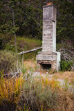 Abandoned fireplace spotted on a trail on Corral Canyon, Malibu. California Royalty Free Stock Image
