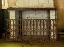 Abandoned fireplace Stock Image