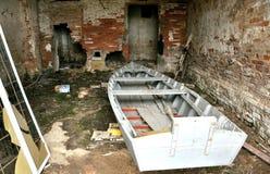 Abandoned fishermen house Stock Images