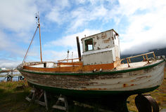Abandoned fishing boat Royalty Free Stock Image
