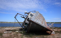 Abandoned Fishing Boat Stock Image