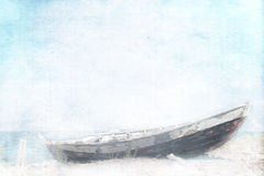 Abandoned fishing boat stock photos