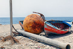 Abandoned fishing gears Royalty Free Stock Images