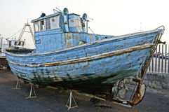 Abandoned fishing ship Stock Photography