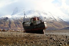 Abandoned fishing vessel Royalty Free Stock Photo