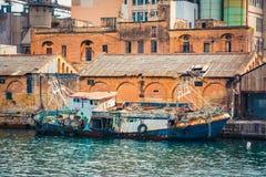 Abandoned fising boat near Valletta Stock Image