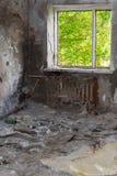 Abandoned flat and spring outside Stock Image