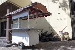 Abandoned food cart. royalty free stock images