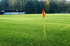 Abandoned football pitch Royalty Free Stock Photo