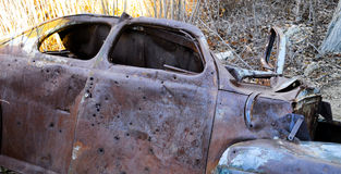 1941 abandoned Ford Coupe Stock Photos