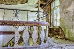 Abandoned and forgotten manor house Stock Images