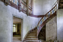 Abandoned and forgotten manor house Stock Photo