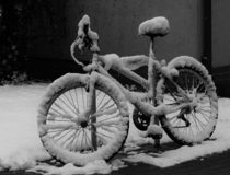 Abandoned and forgotten snow bike royalty free stock image