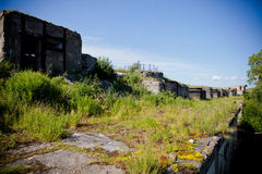 Abandoned Fort in the Gulf of Finland near St. Petersburg Stock Photo