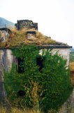Abandoned fortress. Overgrown with ivy wall fortress Gorazda (Montenegro Royalty Free Stock Images