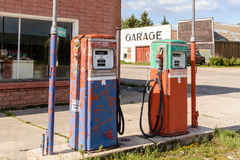Abandoned Fuel Pump Royalty Free Stock Photography