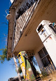Abandoned Fuel Station Garage Storefront Gas Pumps Royalty Free Stock Images