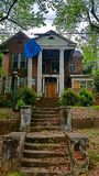 Abandoned Funeral Home. Located in Opelika, Alabama stock photo