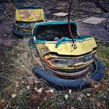 Abandoned funfair Stock Photography
