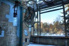 Abandoned fungeringsrum i Beelitz Royaltyfria Bilder