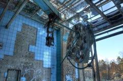 Abandoned fungeringsrum i Beelitz Royaltyfri Foto