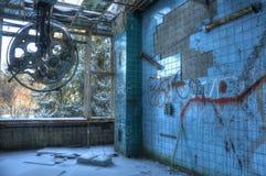 Abandoned fungeringsrum i Beelitz Fotografering för Bildbyråer