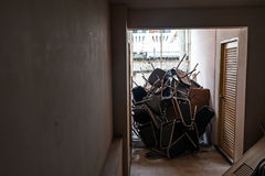 Abandoned furniture in soft light Stock Photos