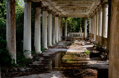 Abandoned gallery in Abkhazia. Old and abandoned gallery in Abkhazia. Gagra royalty free stock photos