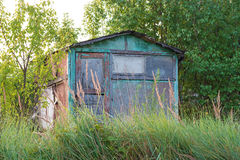 Abandoned garden house. Stock Image