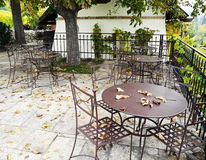 Abandoned garden tavern Royalty Free Stock Photos