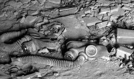 Abandoned gas masks Stock Photos