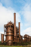 Abandoned Gas Production Plant Stock Images