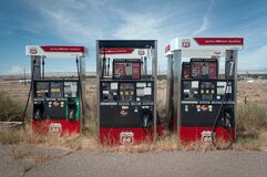 Abandoned Gas Station Royalty Free Stock Photos