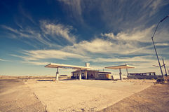 Abandoned Gas Station along Route 66 Royalty Free Stock Photography