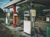 Abandoned Gas Station close Stock Photography