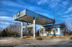 Abandoned gas station. An abandoned gas station in the Crimea, ex-TNK Royalty Free Stock Photography